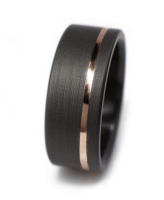Black Wedding Rings In Zirconium Casavir Jewelry
