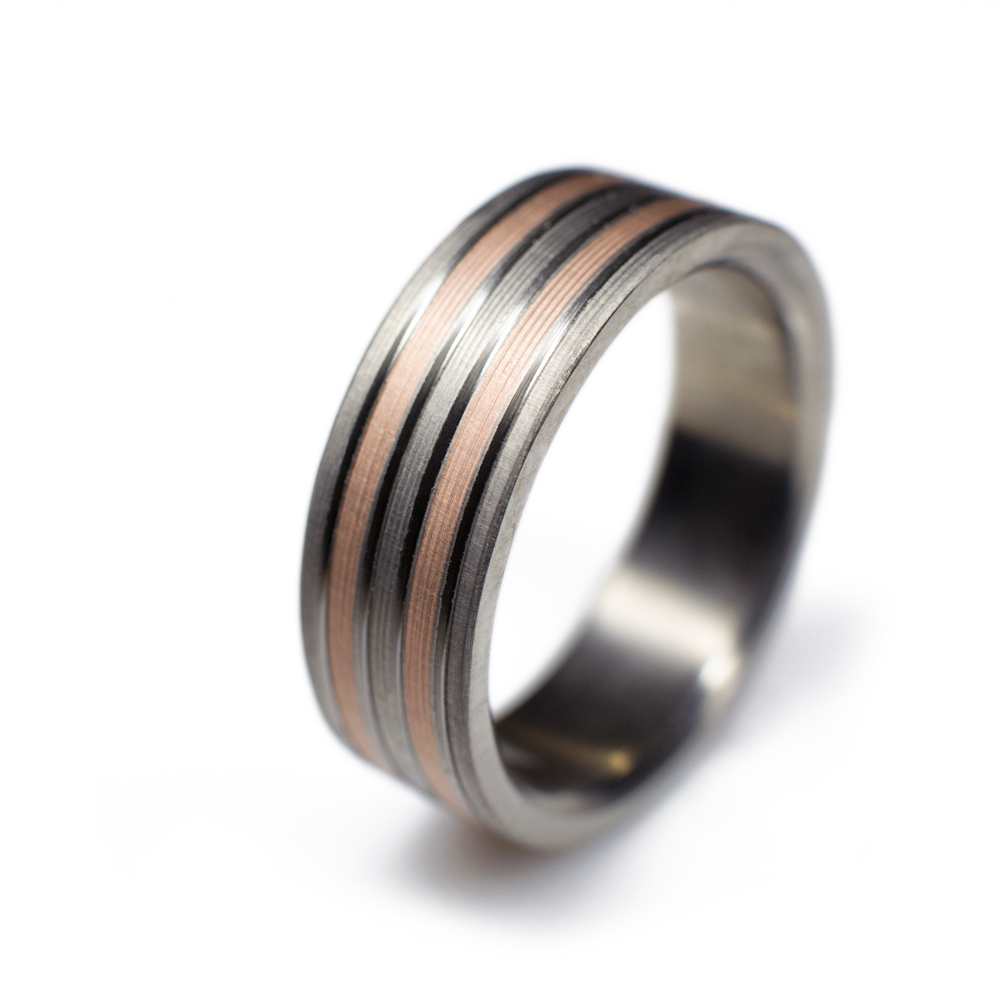 custom gold spexton bands titanium ring hand mens interior by buy wedding rose made a comfort interi fit