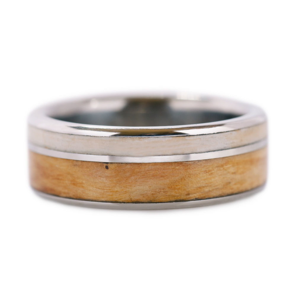 Wooden band zebrano for Susanne ring Olive womens green multicolor wood ring makassar wood Engagement promice ring