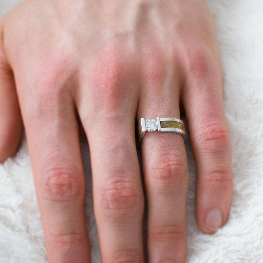 Men S Diamond Engagement Ring In 14k White Gold